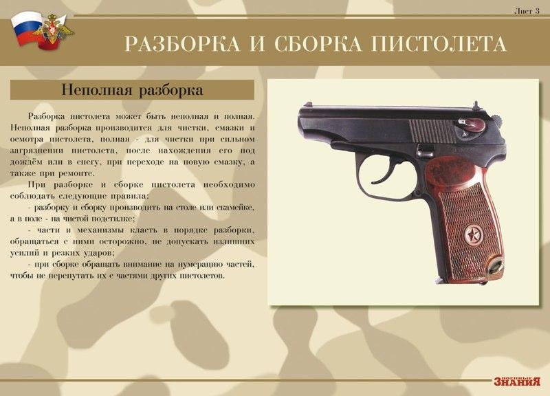 сборка и разборка пистолета пм 9мм